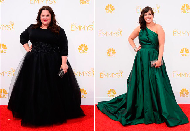 famosas-plus-size-emmy-awards-2014-melissa-mccarthy-allison-tolman