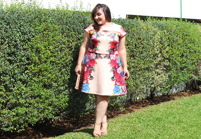 gorda de vestido plus size estampado 1