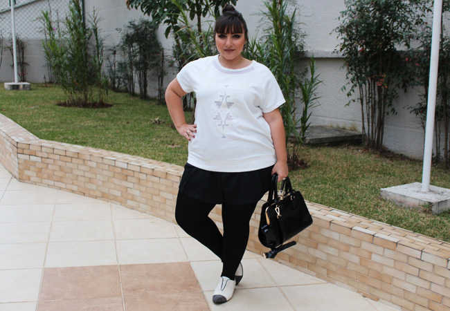 shorts plus size e camiseta moletom 1