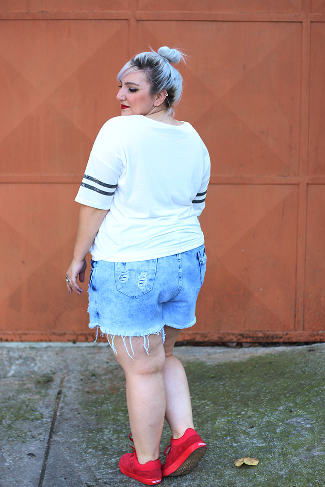 short jeans plus size costas