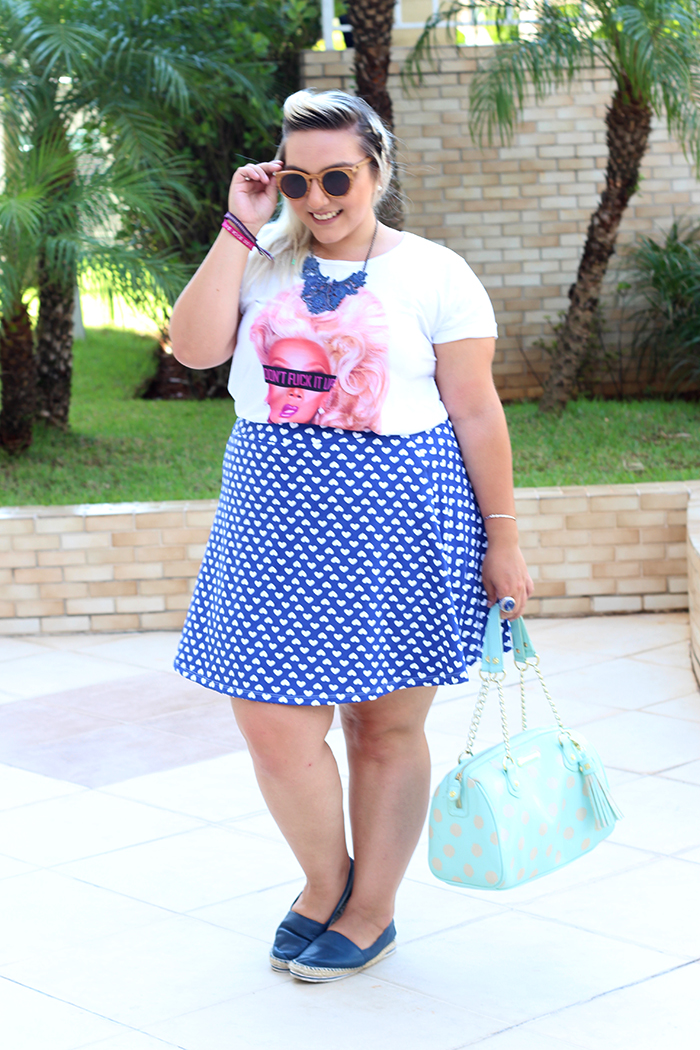 look plus size fun camiseta ru paul e saia estampada 5