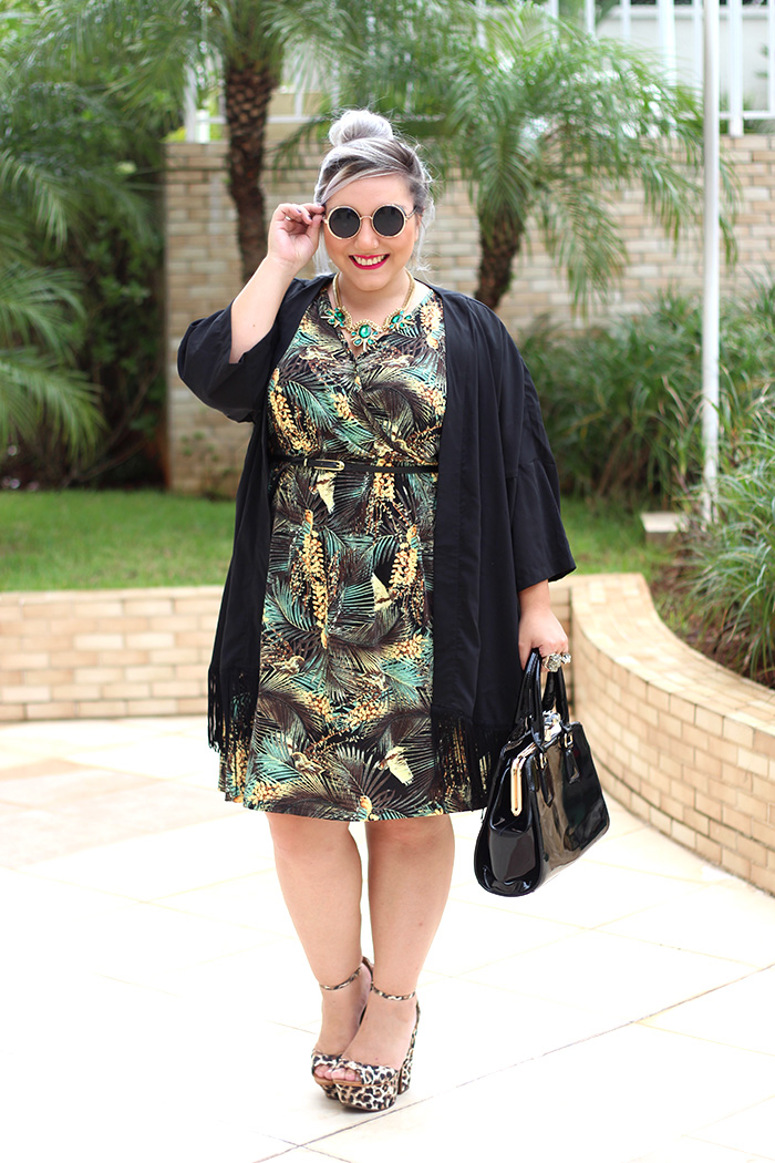 vestido plus size estampado fashion e quimono ju romano 2