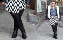 Look de inverno plus size da Kiss Flower + bota over the knee